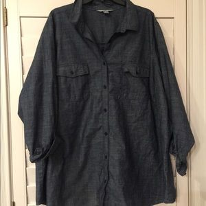 Old Navy Plus Size Chambray Button Down Shirt 4X